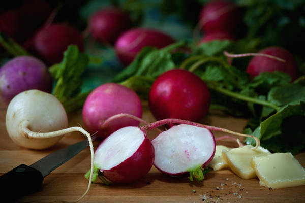 Photograph - Radishes And Butter by Matthew Pace