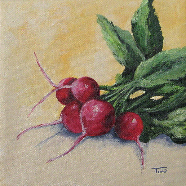 Wall Art - Painting - Radishes by Torrie Smiley