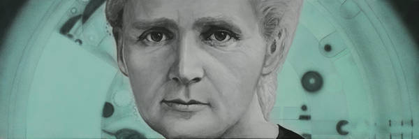 Evolution Wall Art - Painting - Radium- Marie Curie by Simon Kregar