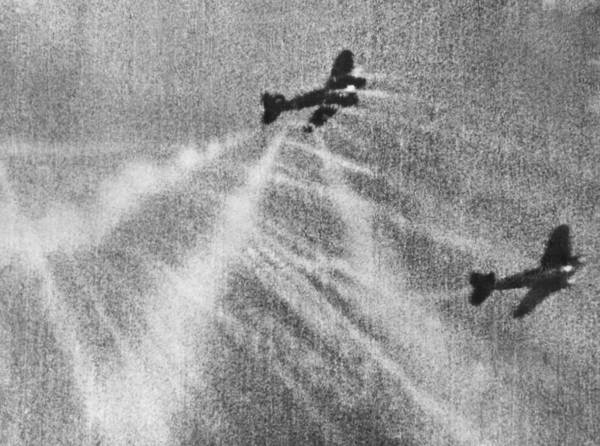 Photograph - Raf Pilot Hits Heinkel Bomber by Underwood Archives