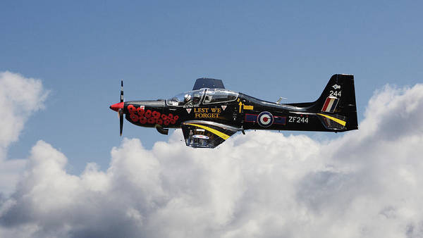 Trainer Photograph - R A F Tucano - Trainer Aircraft by Pat Speirs