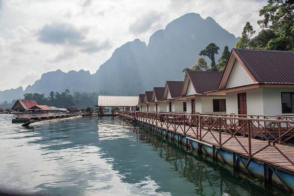Raft Houses On Chieow Laan Lake, Khoa Art Print