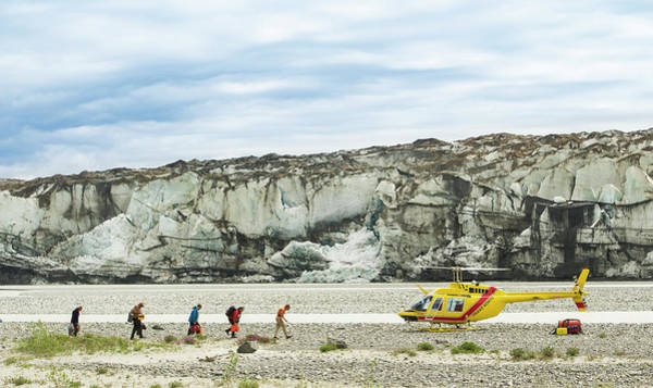 Yukon Territory Photograph - Rafters Loading Helicopter by Josh Miller Photography