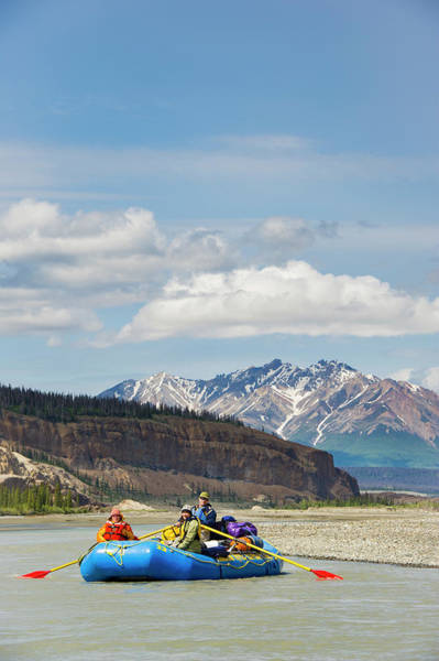 Yukon Territory Photograph - Rafters On The Alsek River by Josh Miller Photography