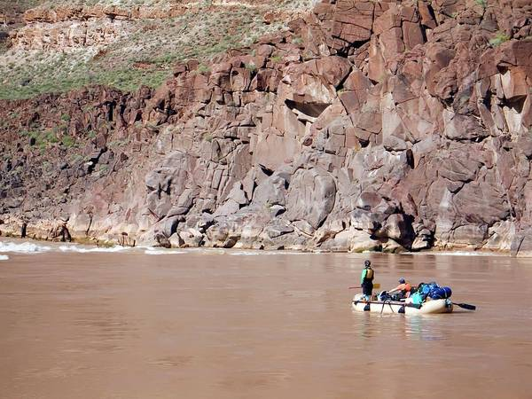 Raft Wall Art - Photograph - Rafting The Colorado by Jim West