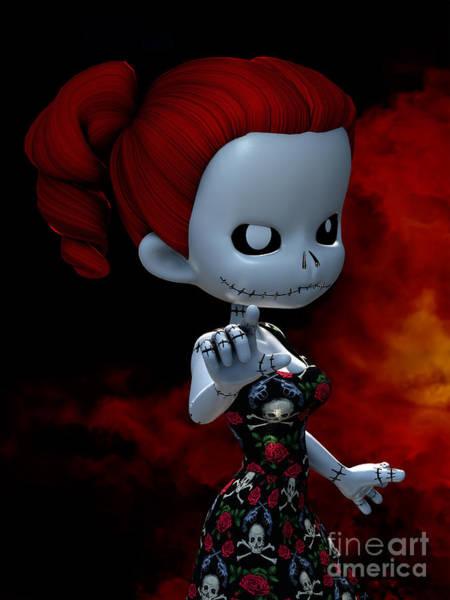 Voodoo Digital Art - Rag Doll Attitude by Alexander Butler