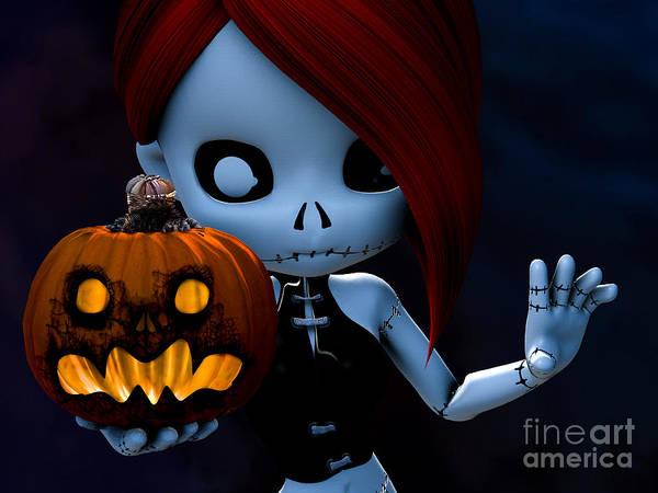 Voodoo Digital Art - Rag Doll Halloween by Alexander Butler