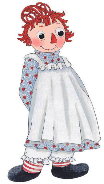 Dressed Up Mixed Media - Raggedy Ann by Sally  Evans
