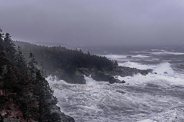Wall Art - Photograph - Raging Fury At Quoddy by Marty Saccone