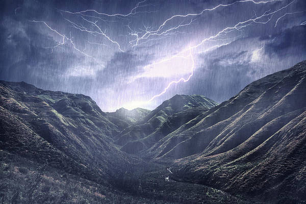 Fuel Element Photograph - Raging Over The Mountains by Yuri arcurs