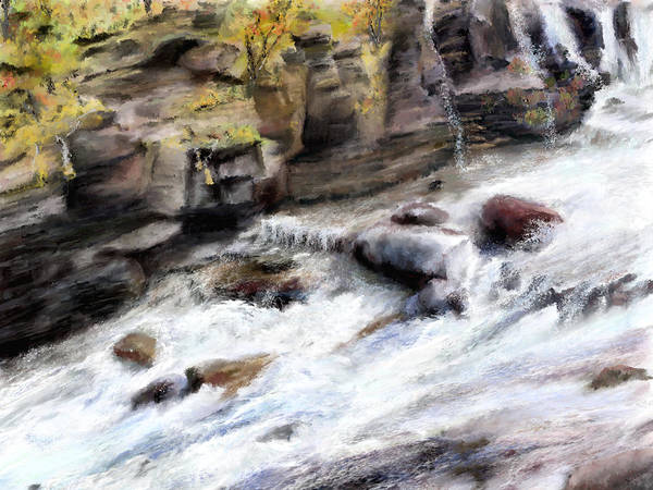 Painting - Raging River by Susan Kinney