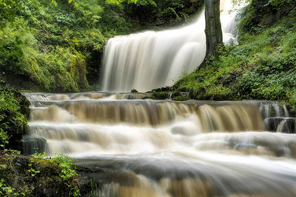 Wall Art - Photograph - Raging Scaleber Force Falls by Chris Frost