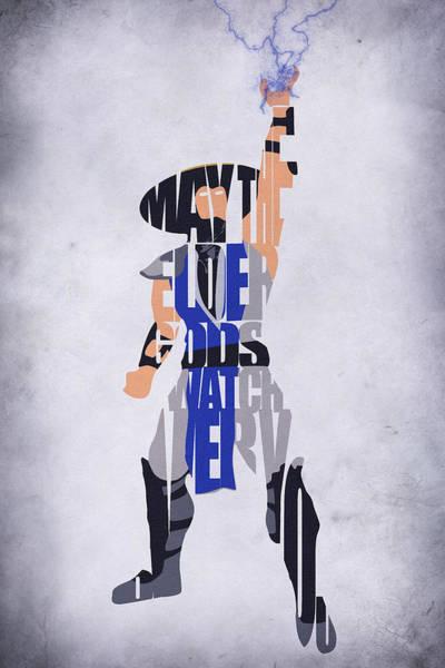 Tv Series Digital Art - Raiden - Mortal Kombat by Inspirowl Design