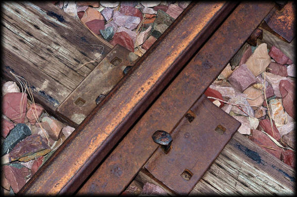 Railroad Tie Wall Art - Photograph - Rail And Tie by Kae Cheatham