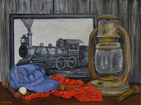 Painting - Rail History by Nancy Lauby