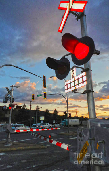 Photograph - Rail Road Crossing Sign - 02 by Gregory Dyer