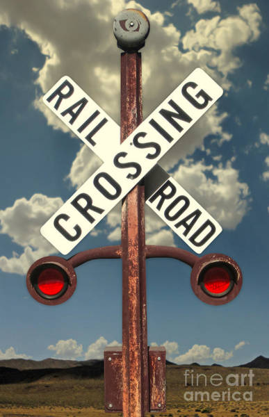 Photograph - Rail Road Crossing Sign by Gregory Dyer