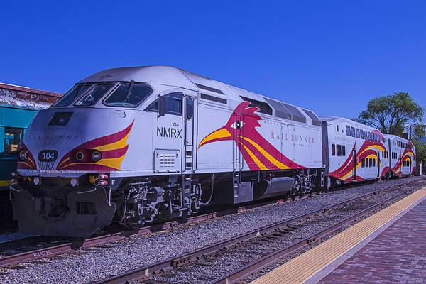 Commuter Rail Wall Art - Photograph - Rail Runner Santa Fe by Garry Gay