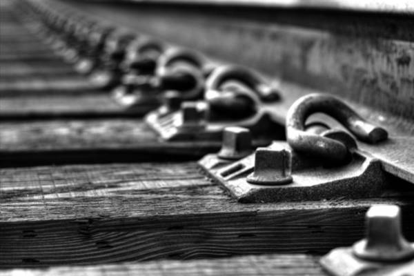 Railroad Tie Wall Art - Photograph - Rail Tie by Jonathan Davison