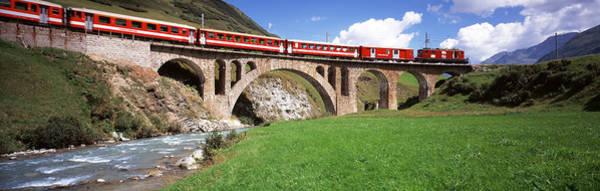 Alpine Meadows Photograph - Railroad Bridge, Andermatt, Switzerland by Panoramic Images