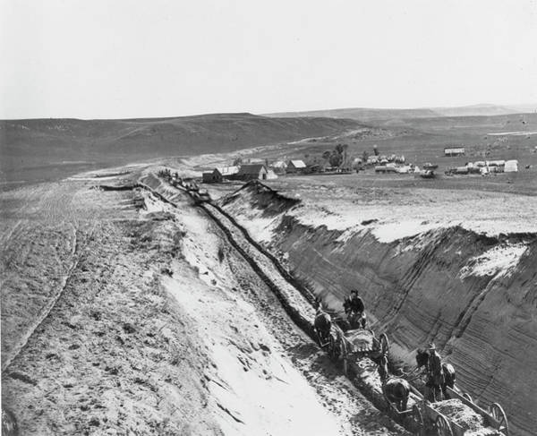 Photograph - Railroad Construction, 1879 by Granger