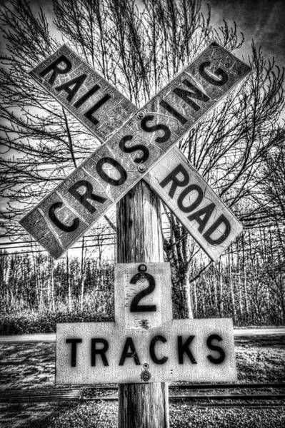 Washington Crossing Photograph - Railroad Crossing by Spencer McDonald