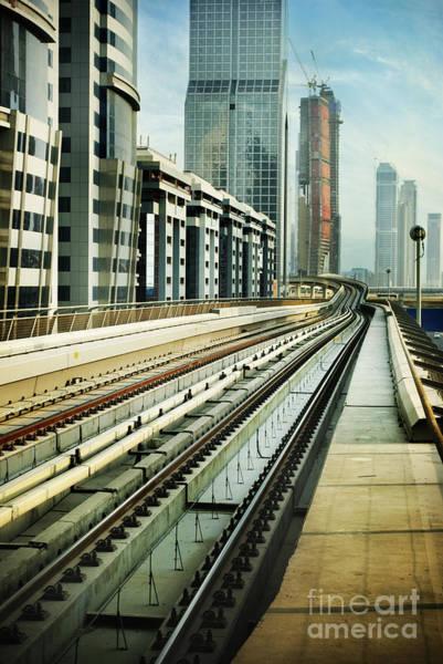 Pyrography - Railroad In Dubai by Jelena Jovanovic