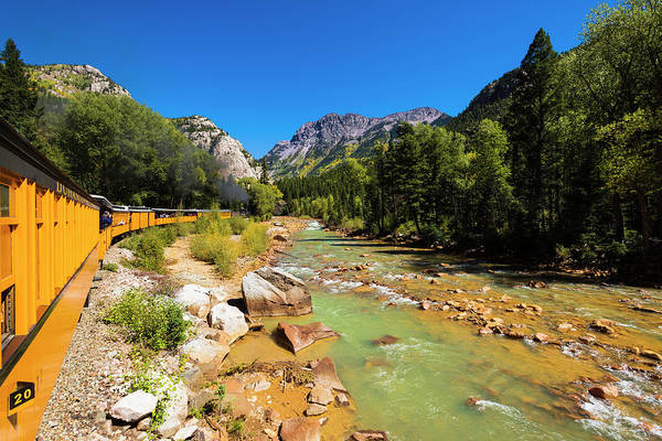 Scenic Byway Photograph - Railroad On The Animas River, San Juan by Russ Bishop