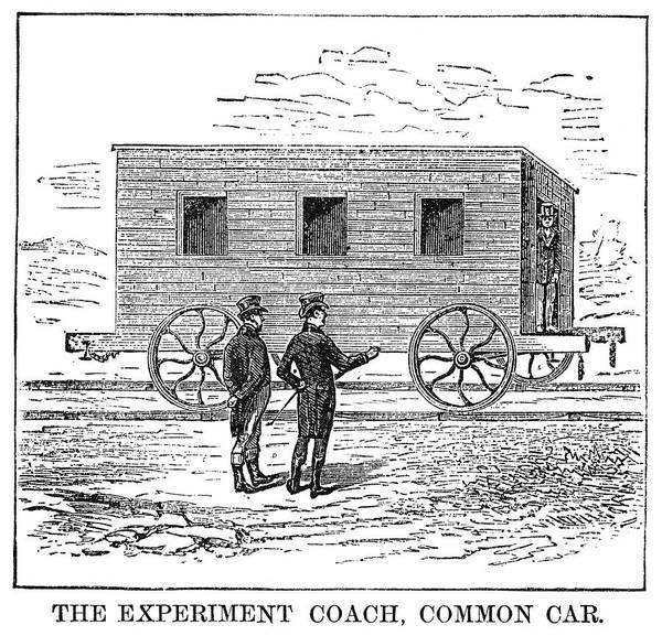 Experiment Painting - Railroad Passenger Car by Granger