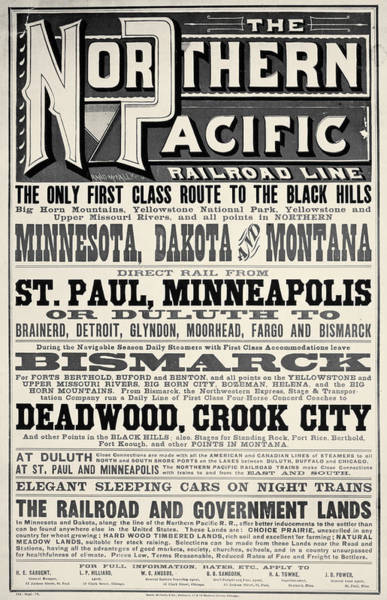 Photograph - Railroad Poster, 1879 by Granger
