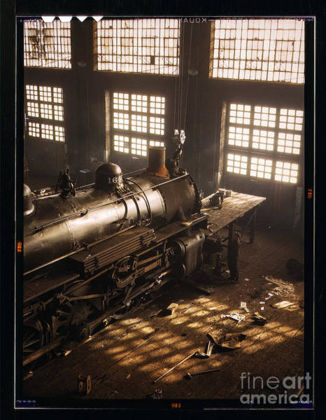 Photograph - Railroad Shop by Russell Brown