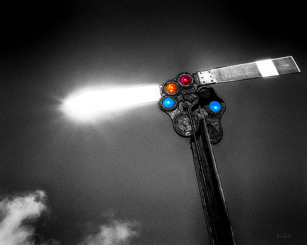 Photograph - Railroad Signal by Bob Orsillo