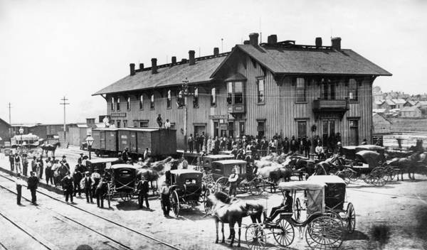 Photograph - Railroad Station, 1880 by Granger