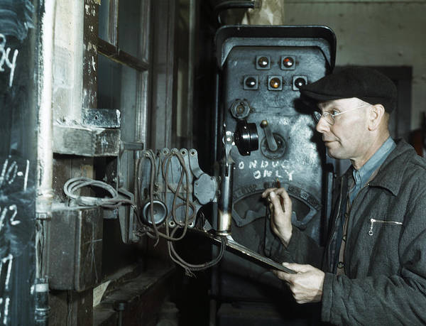 Chicago And North Western Photograph - Railroad Switch Operator by Granger
