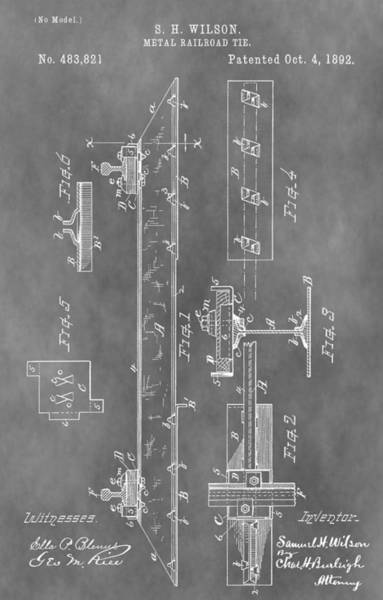 Mixed Media - Railroad Tie Patent by Dan Sproul