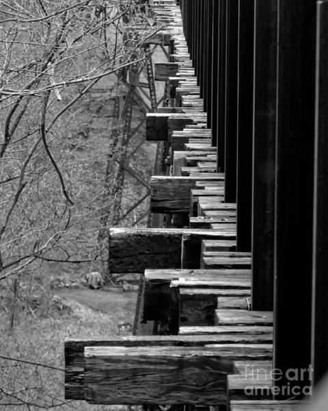 Photograph - Railroad Ties On Trestle Bridge by Kristen Fox