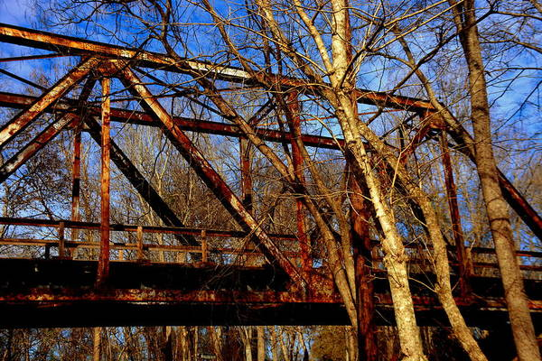 Photograph - Railroad Train Trestle by Lisa Wooten