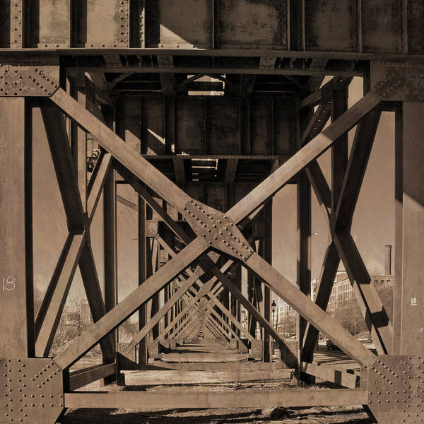Photograph - Railroad Trestle Sepia by Jemmy Archer