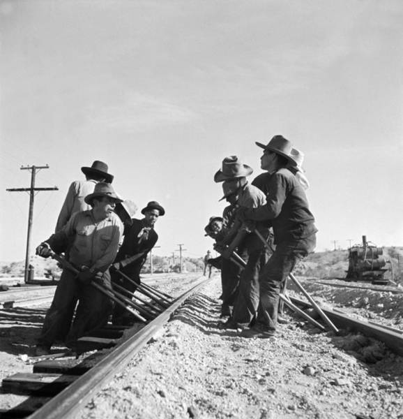 Topeka Wall Art - Photograph - Railroad Workers by Jack Delano