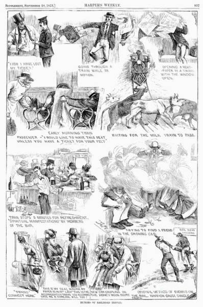 Photograph - Railroading Cartoon, 1873 by Granger