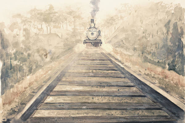 Railway Painting - Railway Bound by Patricia Pinto