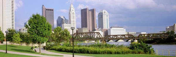 Scioto Photograph - Railway Bridge Across A River by Panoramic Images