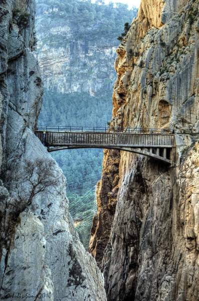 Railway Bridge In El Chorro Art Print