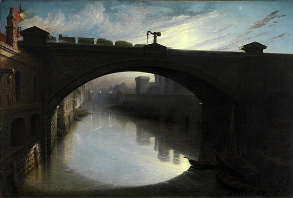Oil Industry Painting - Railway Bridge Over The River Cart, Paisley Signed by Litz Collection