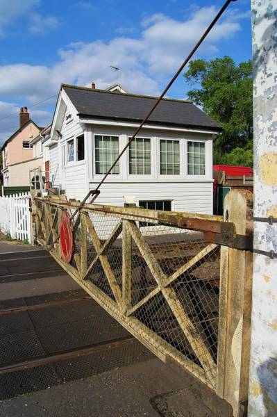 Rail Crossing Photograph - Railway Gates And Signal Box by Mark Williamson/science Photo Library
