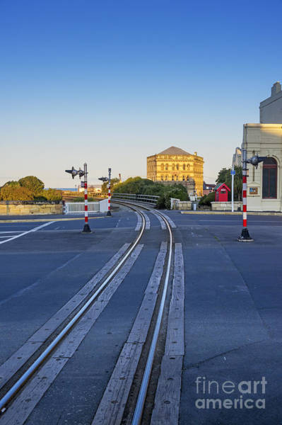 Rail Crossing Photograph - Railway Line Level Crossing Oamaru Nz by Colin and Linda McKie