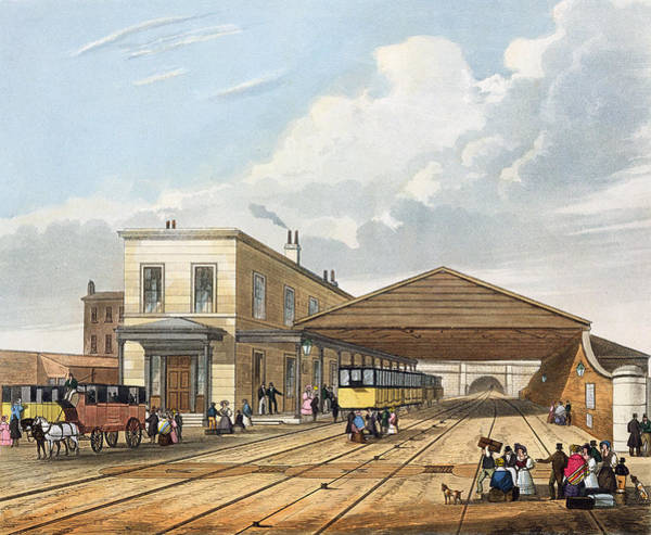 Georgian Drawing - Railway Office, Liverpool, Plate 8 by Thomas Talbot Bury