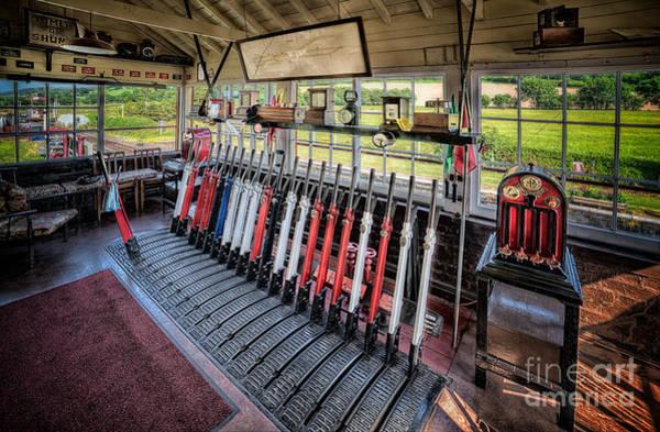Window Box Photograph - Railway Signal Box by Adrian Evans