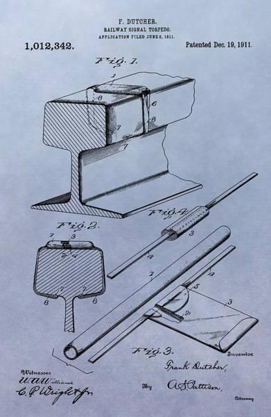 Digital Art - Railway Torpedo Patent by Dan Sproul