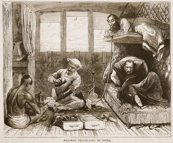 Trains Drawing - Railway Travelling In India by English School